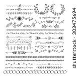 31 decorative elements set   ... | Shutterstock .eps vector #303475694