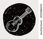 guitar doodle | Shutterstock . vector #303488645
