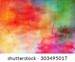 abstract colorful watercolor... | Shutterstock . vector #303495017