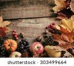 Peaceful Fall Fruit  Leaf ...