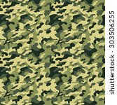 classic green military... | Shutterstock .eps vector #303506255