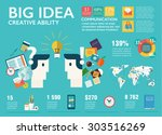 big infographics set in flat... | Shutterstock .eps vector #303516269