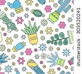 bright seamless pattern design... | Shutterstock .eps vector #303520241