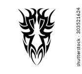 tribal tattoo vector design...   Shutterstock .eps vector #303521624