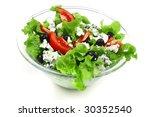 vegetable salad and roquefort...   Shutterstock . vector #30352540