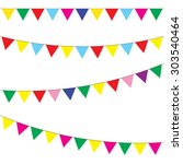 bunting and garland set.... | Shutterstock . vector #303540464