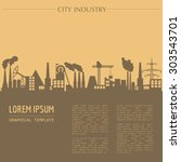 cityscape graphic template.... | Shutterstock .eps vector #303543701
