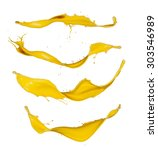 yellow paint splashes...   Shutterstock . vector #303546989
