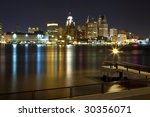detroit downtown viewed from... | Shutterstock . vector #30356071