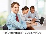 business meeting. | Shutterstock . vector #303574409
