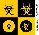 very useful icon of bio hazard. ...   Shutterstock .eps vector #303578825