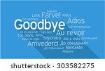 goodbye in different languages  ...   Shutterstock .eps vector #303582275