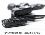 portable walkie talkie | Shutterstock . vector #303584789
