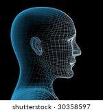 3d head   Shutterstock . vector #30358597