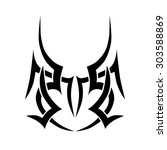 tribal tattoo vector design... | Shutterstock .eps vector #303588869