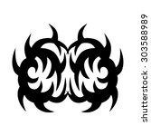 tribal tattoo vector design... | Shutterstock .eps vector #303588989