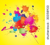 color paint splashes background.... | Shutterstock .eps vector #30358933