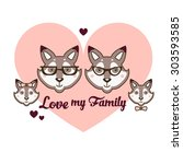 love my family2 | Shutterstock .eps vector #303593585
