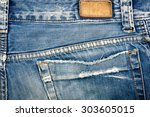 Blank Real Leather Jeans Label...