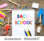 back to school on chalkboard | Shutterstock . vector #303610637