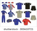 each athlete sportswear set | Shutterstock . vector #303610721