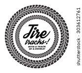 tire tracks. vector... | Shutterstock .eps vector #303612761