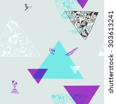 geometric elements. seamless... | Shutterstock .eps vector #303613241