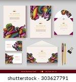 corporate identity. vector... | Shutterstock .eps vector #303627791