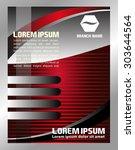vector brochure flyer design... | Shutterstock .eps vector #303644564