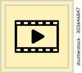video sign icon  vector... | Shutterstock .eps vector #303646847