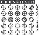 crosshair.icons set in vector   Shutterstock .eps vector #303651455