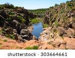 wichita mountains national... | Shutterstock . vector #303664661