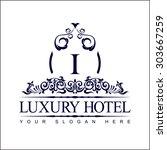 luxury logo template in vector... | Shutterstock .eps vector #303667259