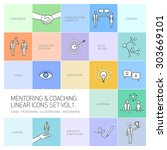 vector abstract mentoring and... | Shutterstock .eps vector #303669101