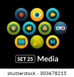 flat icons vector set 25  ...