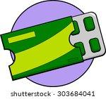 chewing gum blister pack  | Shutterstock .eps vector #303684041