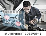 engineering interface against... | Shutterstock . vector #303690941