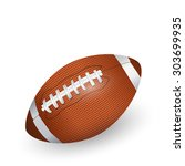 rugby ball  american football | Shutterstock . vector #303699935