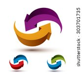 infinite loop arrows vector... | Shutterstock .eps vector #303701735