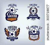 soccer club emblem  college... | Shutterstock .eps vector #303718877