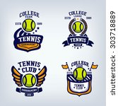 tennis club emblem  college... | Shutterstock .eps vector #303718889