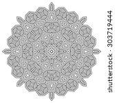 mandala  round vector... | Shutterstock .eps vector #303719444