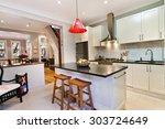 modern gourmet kitchen interior | Shutterstock . vector #303724649