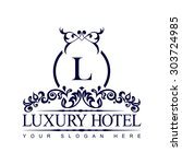 luxury logo template in vector... | Shutterstock .eps vector #303724985