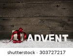 christmas present or gift with...   Shutterstock . vector #303727217