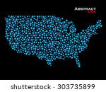 abstract map of usa. colorful... | Shutterstock .eps vector #303735899