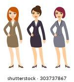 three cartoon young... | Shutterstock . vector #303737867
