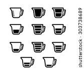 measuring cup icon set