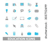 education  science icons  signs ... | Shutterstock .eps vector #303752699