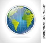 planet earth design  vector... | Shutterstock .eps vector #303753839